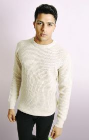 Crew Neck Jumper In Plaster